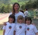 Martina, Benedetta, Valentina con Marina