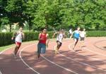Alex impegnato sui 200 metri
